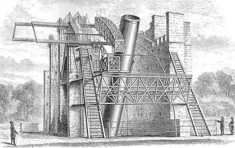 телескоп «Левиафан» в замке Бирр (изображение: scienceblogs.com).