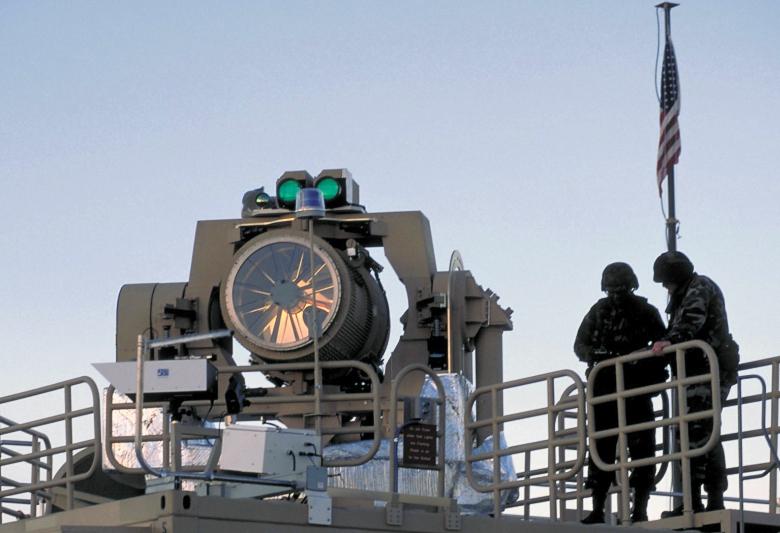 Прототип боевого лазера Northrop Grumman MLD (фото: up-ship.com).