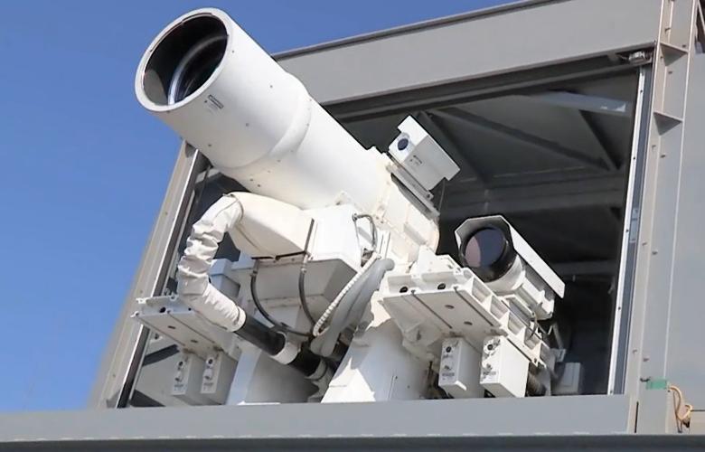 Боевой лазер морского базирования Raytheon LaWS (фото: raytheon.com).