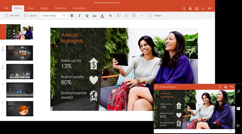 PowerPoint для Windows 10.