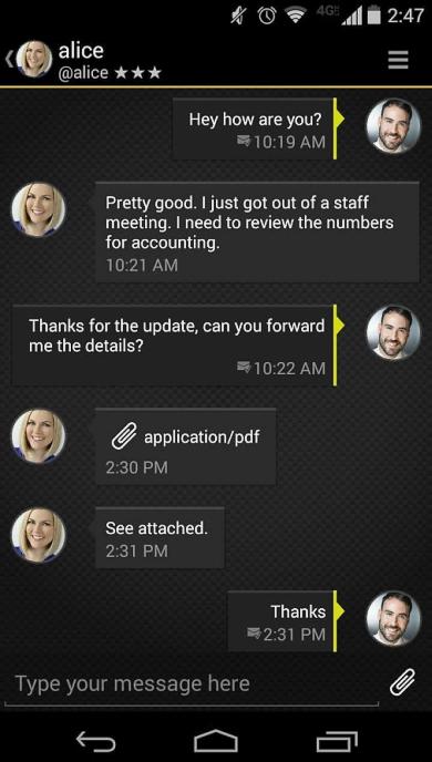 Приложение Silent Text, поставившее под удар всю защиту BlackPhone (изображение: google.com).