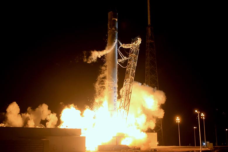 Второй старт РН Falcon-9 (фото: AFP/Getty Images).