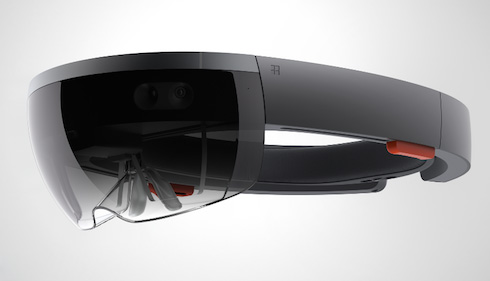 Microsoft представила очки HoloLens.