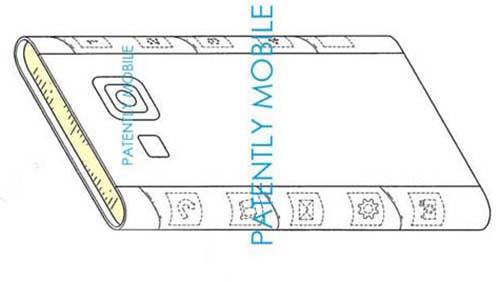 В новом патенте Samsung оба края дисплея имеют скругленные края.