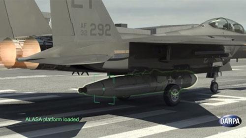 Darpa планирует запускать спутники с борта истребителя.