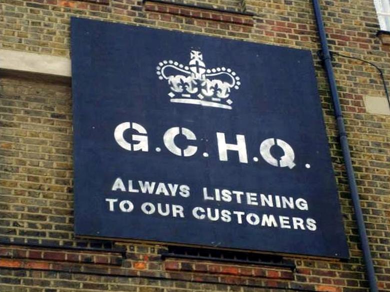 "GCHQ: ""Всегда слушаем своих клиентов"" (фото: anonhq.com)."