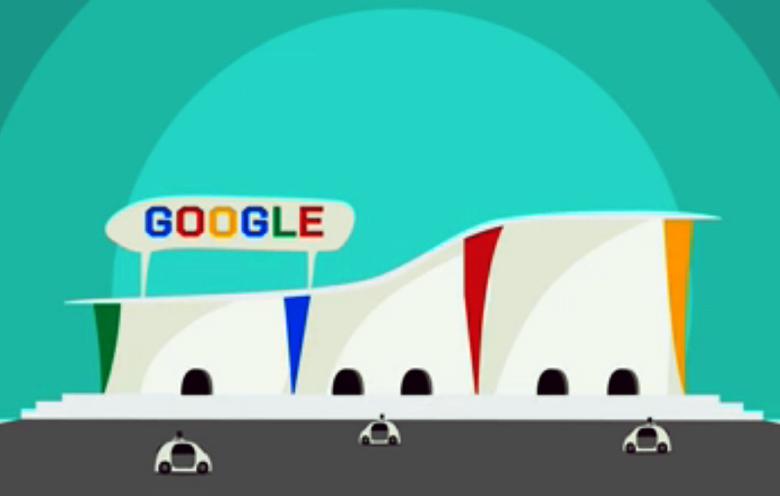 Будущее с автономными машинами по версии Google.