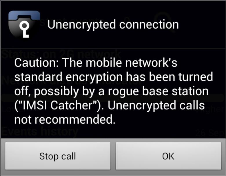 Blackphone определяет (ложные) базовые станции с отключённым шифрованием (изображение: popsci.com).