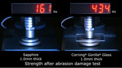 Gorilla Glass выдерживает большее давление, чем лейкосапфир (фото: applestage.com).