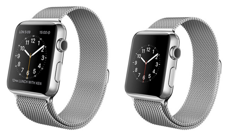 Apple Watch в формате 38 и 42 мм (фото: macstories.net).