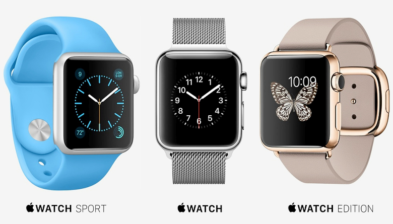 Три серии Apple Watch (фото: apple.com).
