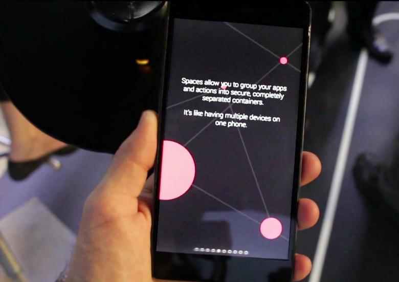 Инструмент Spaces как часть концепции управления профилями безопасности Blackphone (фото: phonandroid.com).