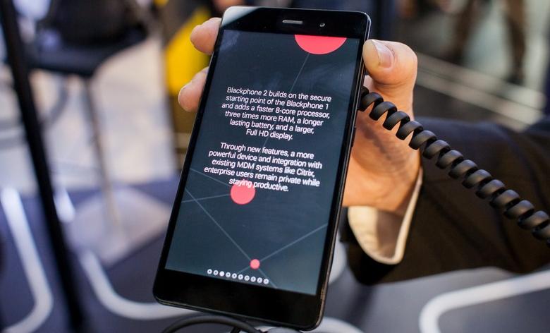Blackphone 2 на MWC 2015 (фото: mashable.com).