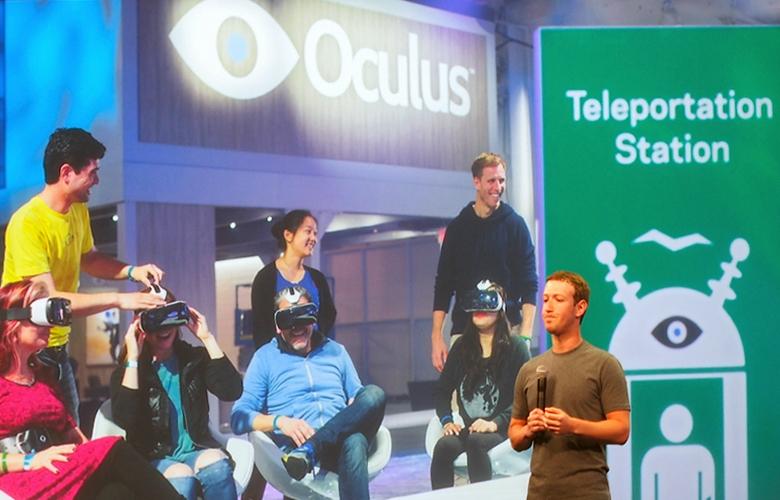 """Презентация """"станции телепортации"""" на конференции F8 (фото: slashgear.com)/"""