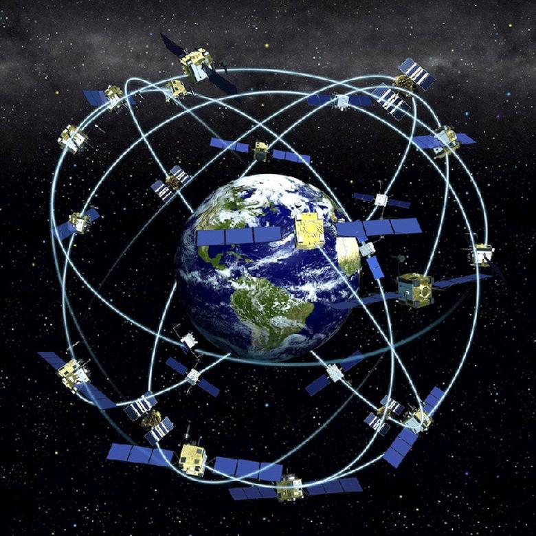 Спутниковая группировка системы глобального позиционирования (изображение: military.ir).