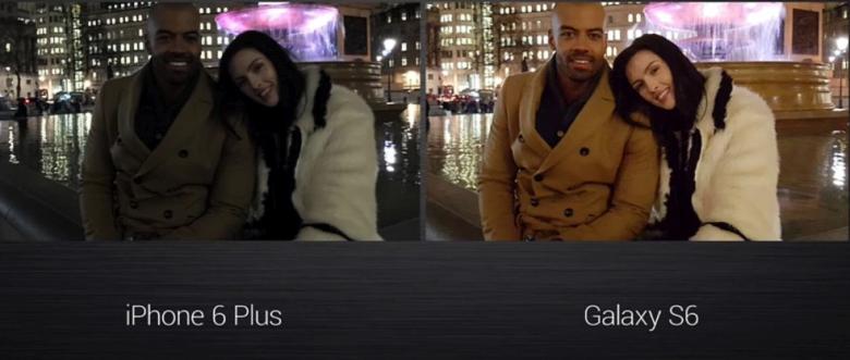 Сравнение снимков камерами iPhone 6 Plus и Samsung Galaxy S6 (тест: techstation.it).