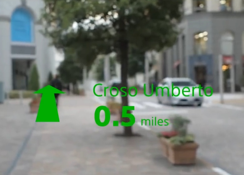 Навигационные подсказки в очках Sony SmartEyeGlass (изображение: sonymobile.com).