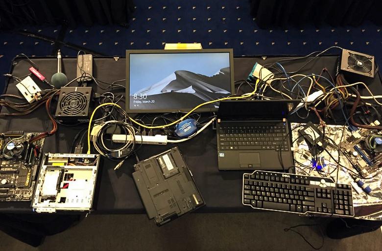 Для демонстрации фундаментальной уязвимости UEFI было использовано оборудование стоимостью около $2K (фото: Xeno Kovah).