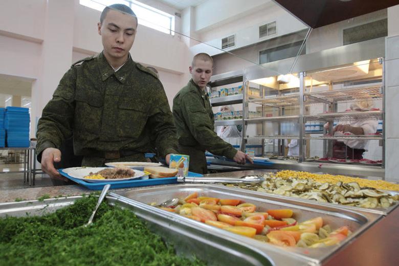 Российские военные будут получать обеды по отпечаткам пальцев
