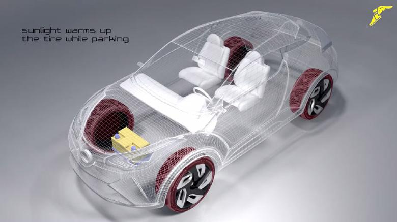 Goodyear представила шины, вырабатывающие электричество