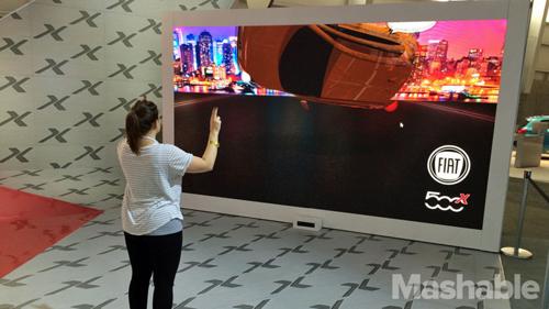 Fiat использовал Kinect для демонстрации автомобиля 500X Trekking на выставке New York Auto Show.