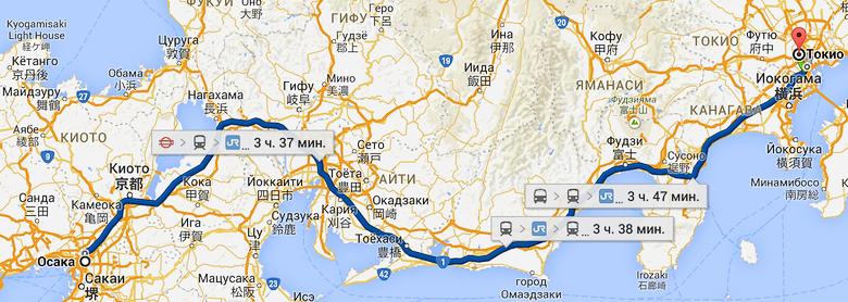 Время поездки из Токио в Осаку сократится втрое.