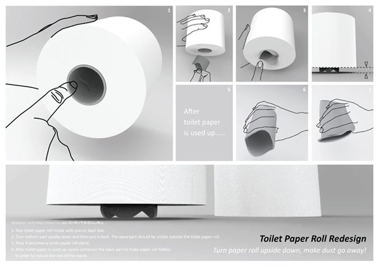 Редизайн рулона туалетной бумаги