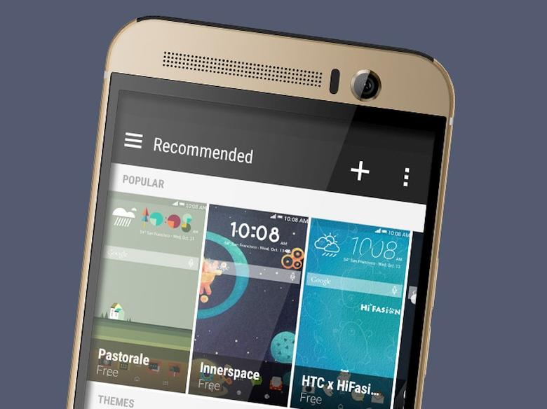 Динамики и фронтальная камера HTC One M9 Plus (изображение: htc.com).