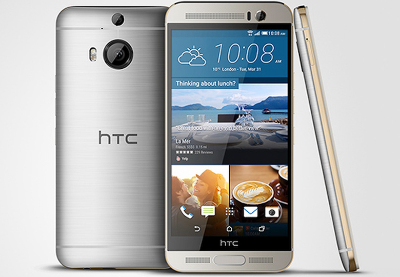 Рендеринг модели HTC M9 Plus (изображение: HTC).