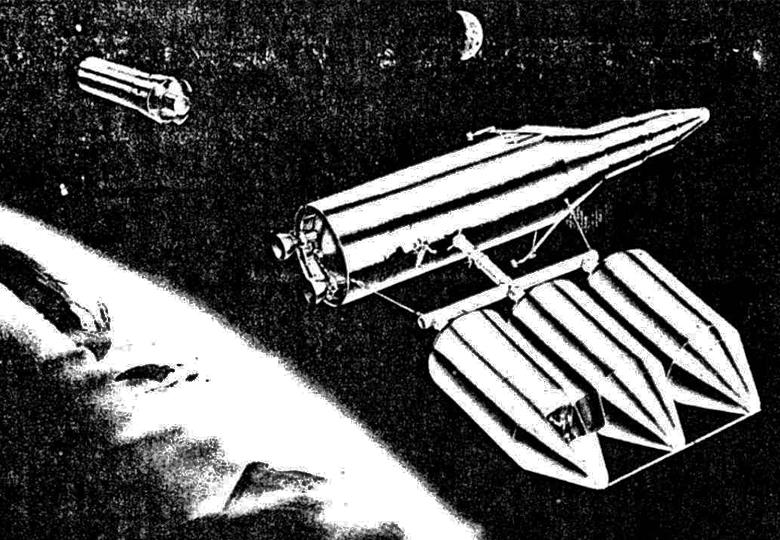 """Орбитальная станция проекта """"Горизонт"""" (изображение: astrored.org)/"""