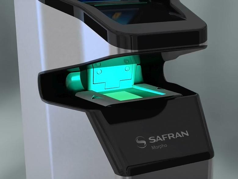 """Бесконтактная идентификация по отпечаткам """"на лету"""" (изображение: safran-group.com)."""