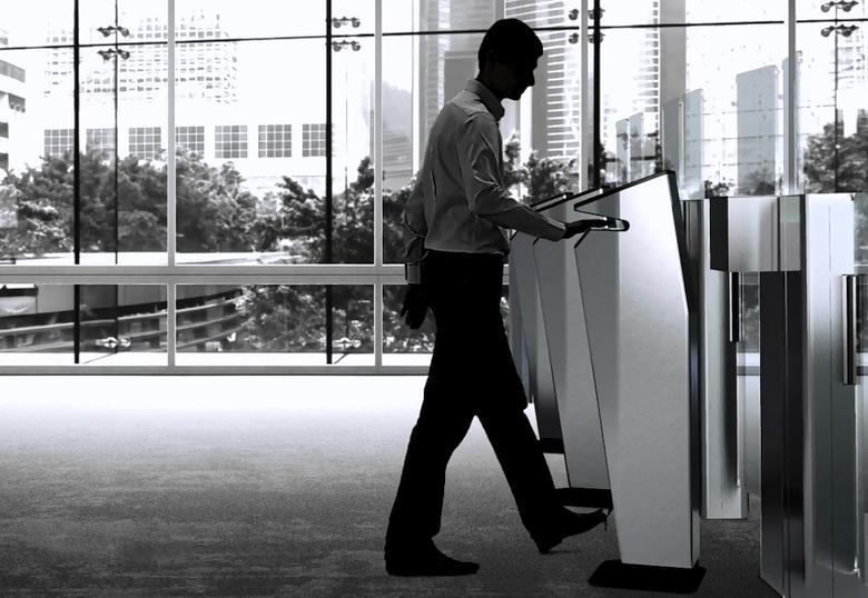 Пропускной пункт с биометрикой и без очередей (изображение: globalsecuritymag.fr).