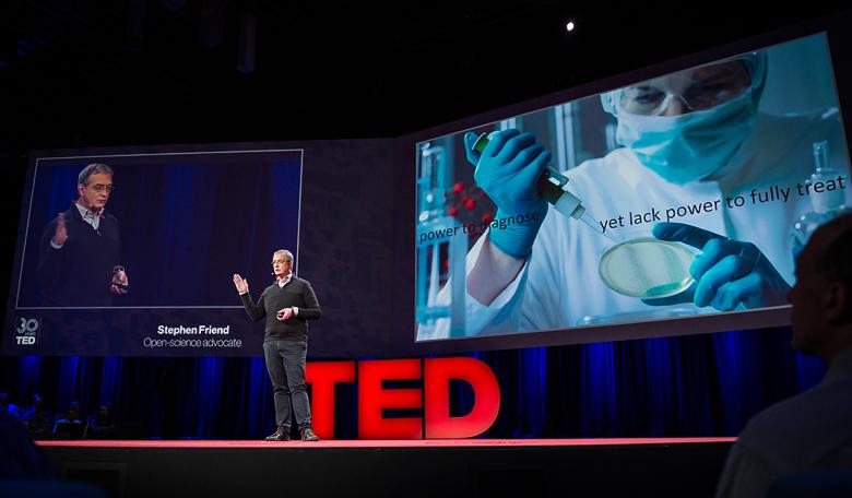 Стивен Френд рассказывает об инновационных методах лечения наследственных заболеваний (фото: blog.ted.com).