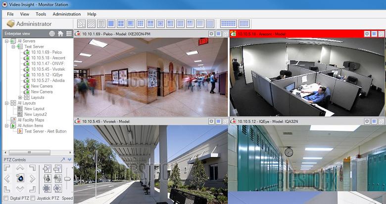 Фрагмент панели управления Video Insight Monitor Station (изображение: video-insight.com).