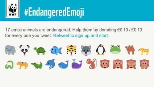 Всемирный фонд дикой природы (WWF) предлагает использовать эмоджи с изображением животных, находящихся под угрозой исчезновения.