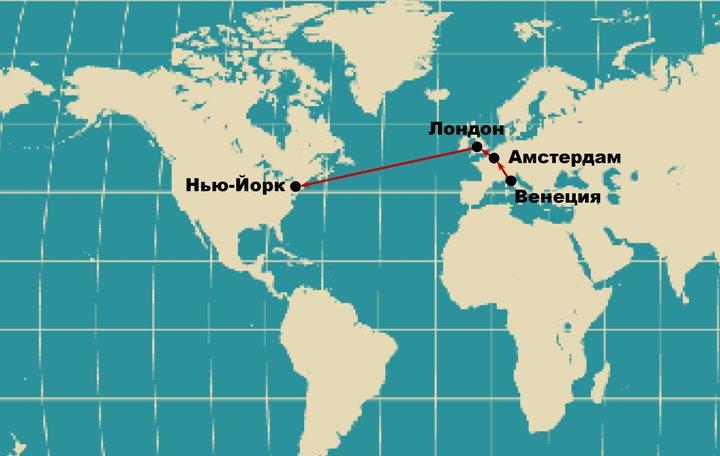 Так перемещался по планете центр Мира-экономики