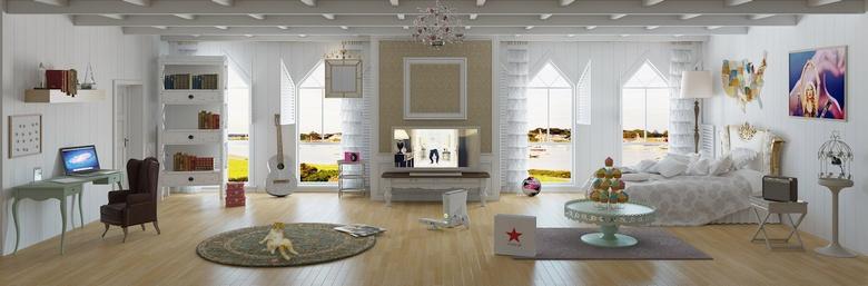 Панорамный вид виртуальной комнаты для хранения закладок.