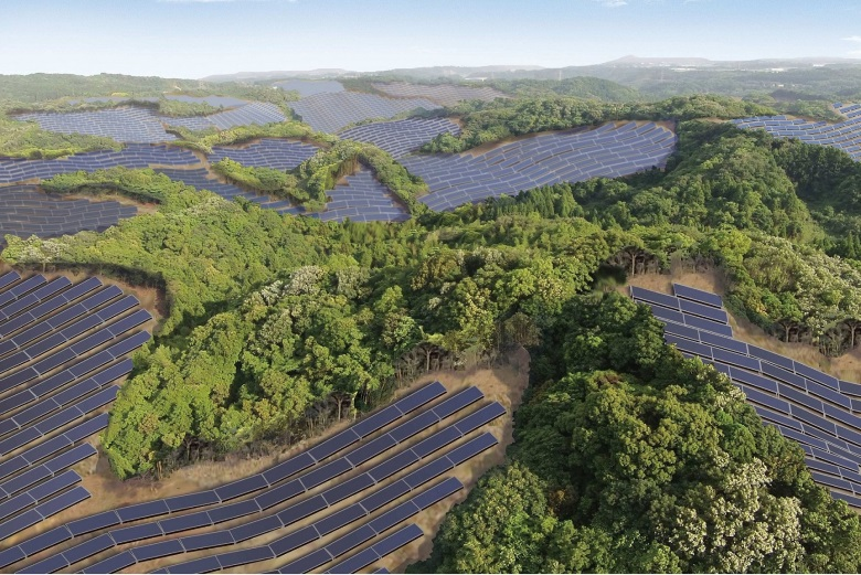 В Японии будет построена крупнейшая солнечная электростанция