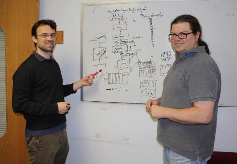 Роб Фергюс и Ян Лекун в Facebook AI Lab (фото: wired.co.uk).