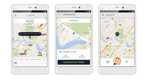 Xiaomi будет продавать флагманский смартфон Mi Note в партнерстве с Uber.