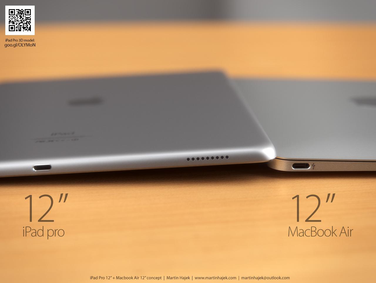 Это  только концепт, 12-дюймовой планшетки Apple пока не выпускала. Но выглядит... неплохо, согласитесь?