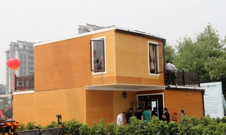 В Китае построили двухэтажную виллу за три часа