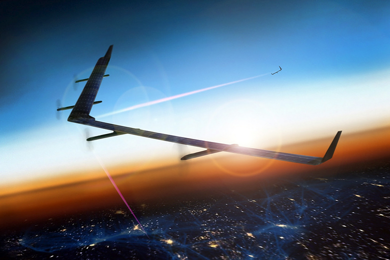 Лазерная система FSO для дронов Aquila  (изображение: fb.com).