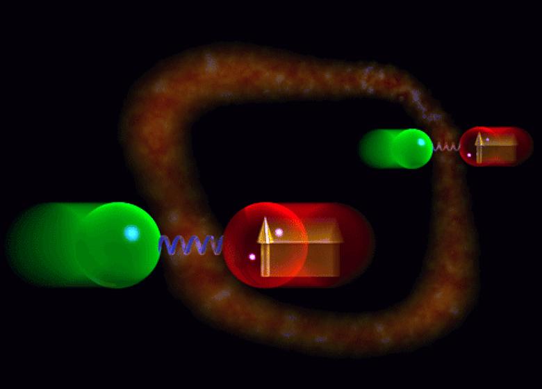 Художественное представление квантовой запутанности (изображение: NIST).