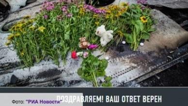 РИА Новости отстранило редакторов, причастных к публикации викторины о «Боинге-777», разбившемся под Донецком год назад.