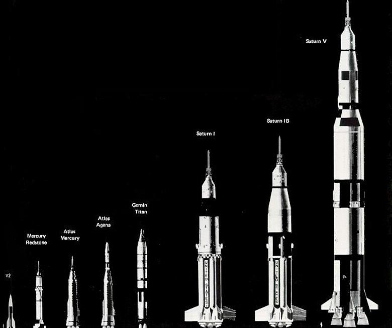 Сравнение Saturn V с другими РН (изображение: nasa.gov).