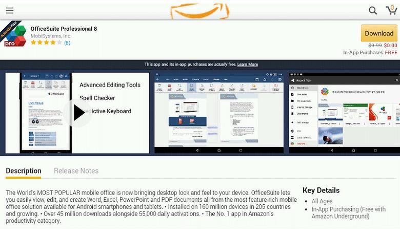 Теперь из Amazon Undeground платные приложения доступны бесплатно.