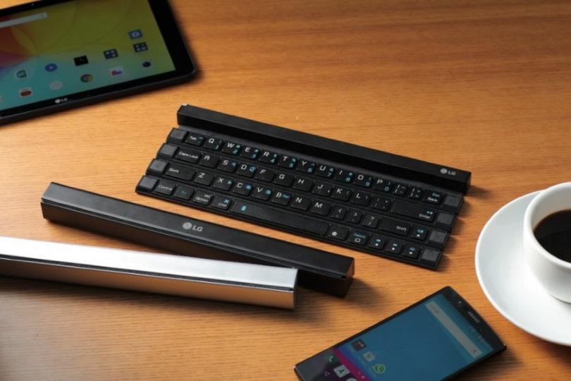 LG переизобретает сворачивающуюся клавиатуру