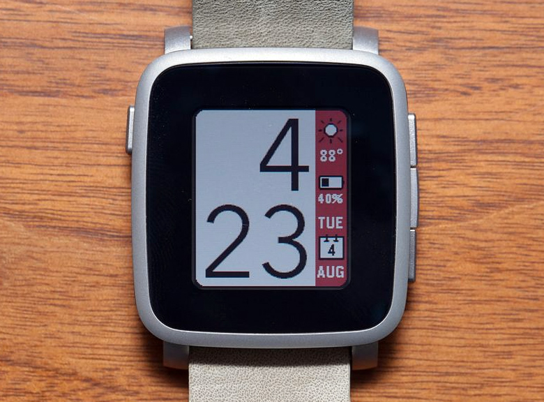 Часы Pebble Time Steel (фото: theverge.com).