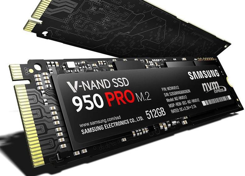 Твердотельный накопитель Samsung 950 Pro.